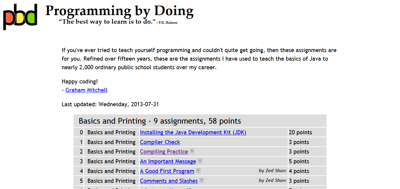 Programming by Doing
