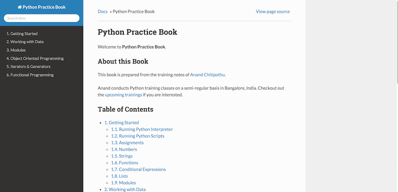 Python Practice Book - Learn Python Programming Language