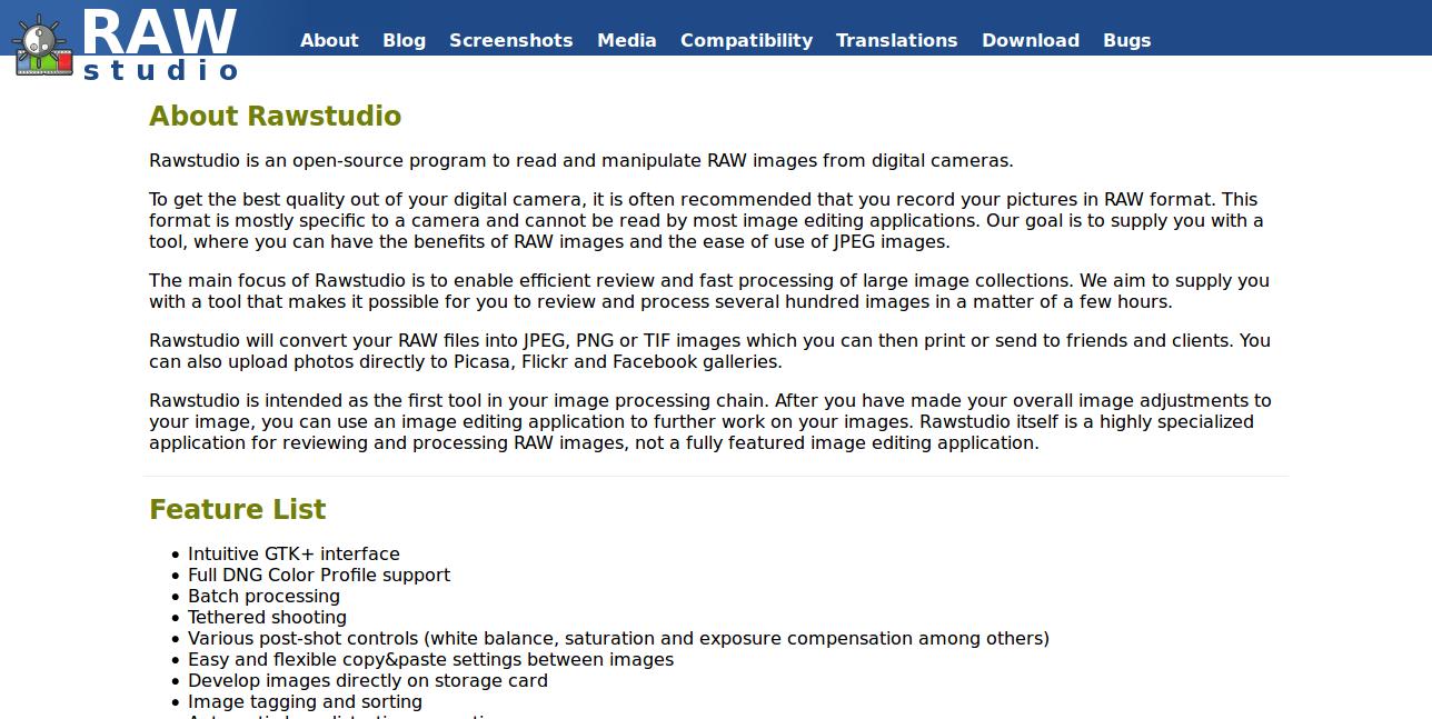 Rawstudio image editor