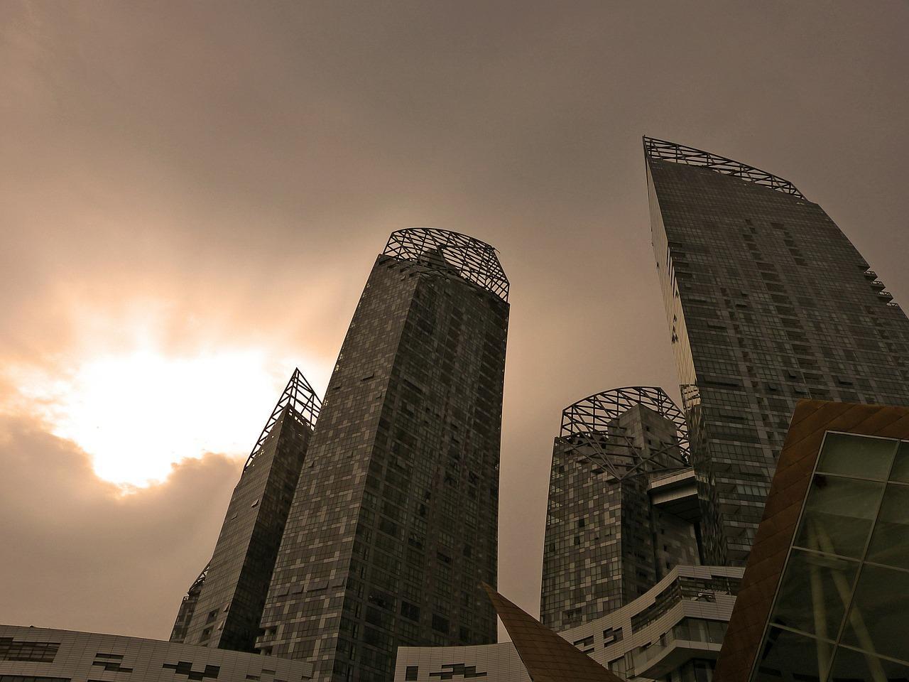 Singapore Architecture Sepia