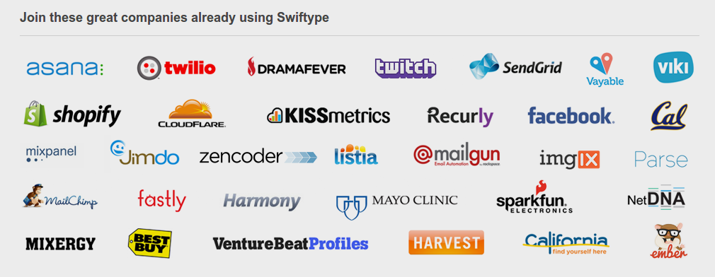 Swiftype Clients