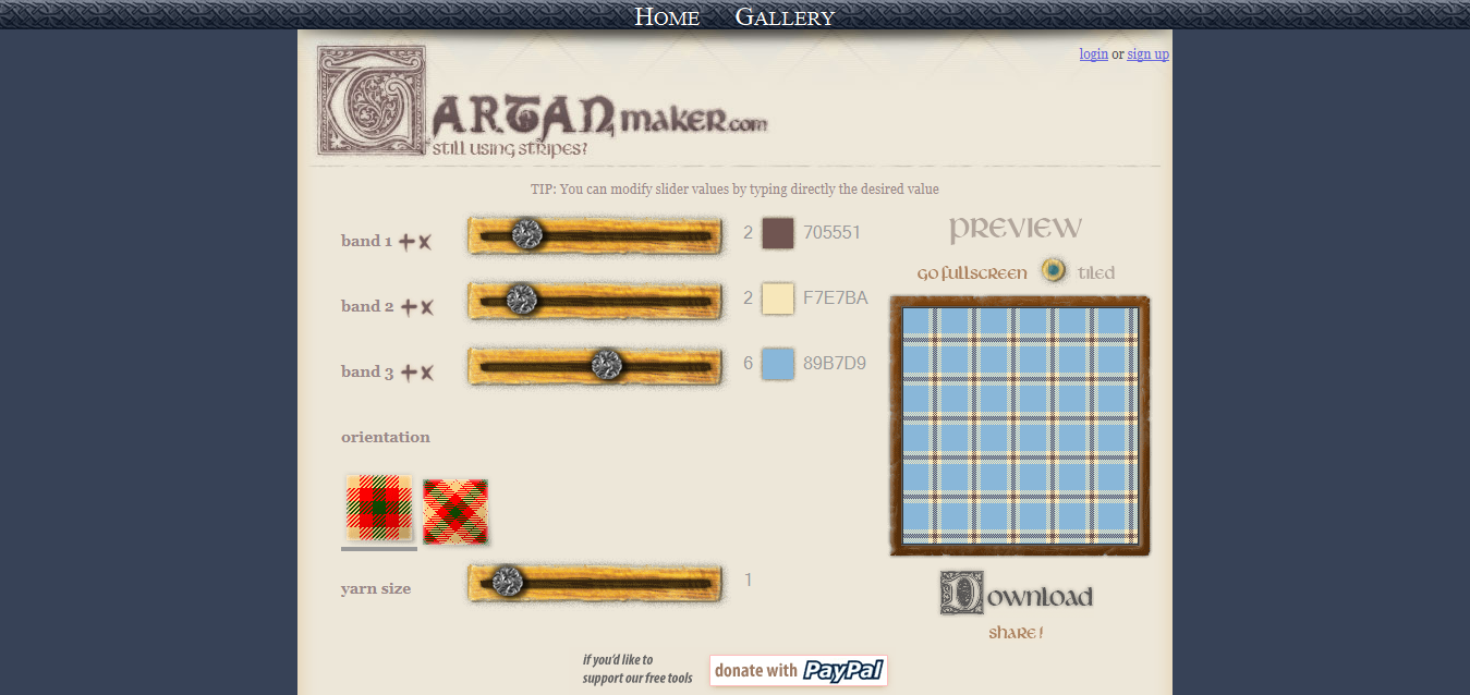 Tartan Designer - Tartan Maker - Tartan Background pattern generator