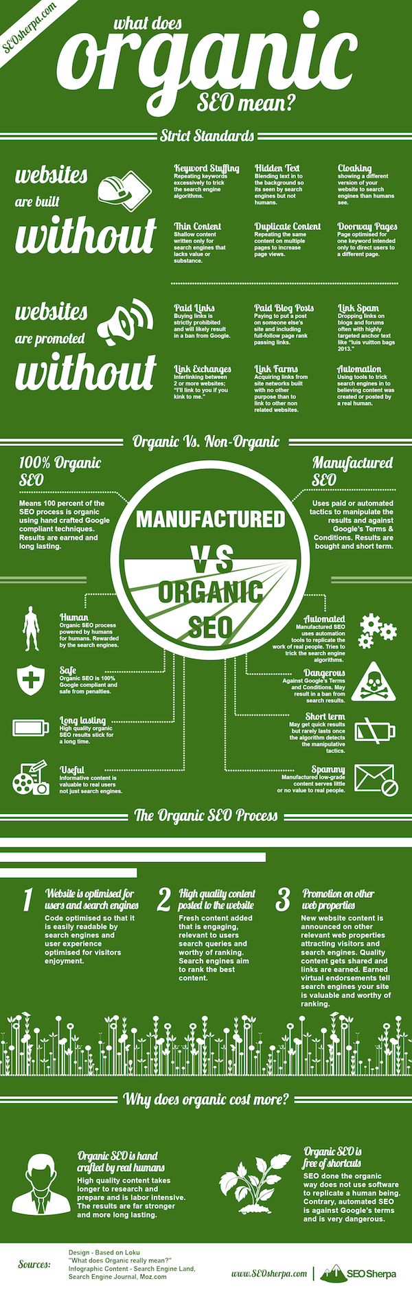 The Organic SEO Process [INFOGRAPHIC]