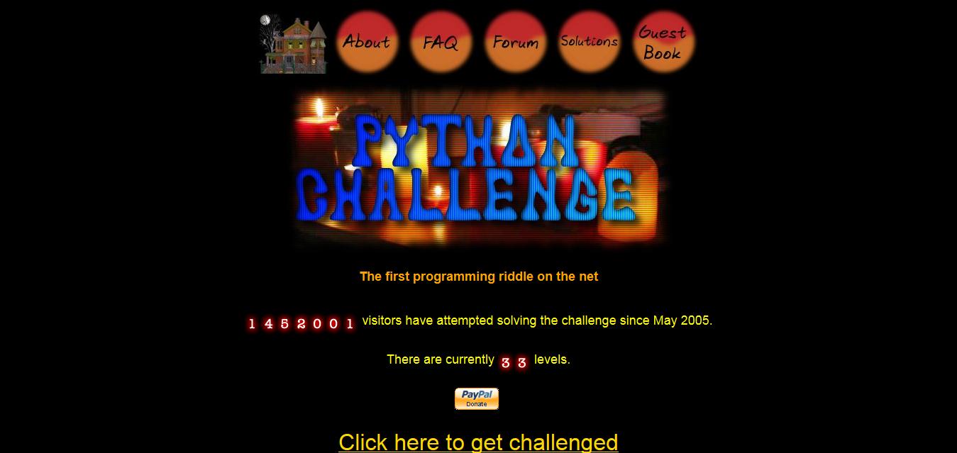 The Python Challenge