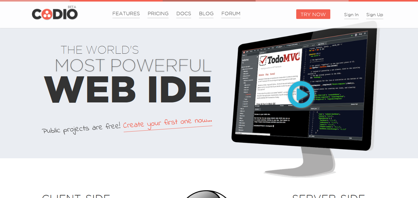 The World's Most Powerful Browser-Based IDE - Codio