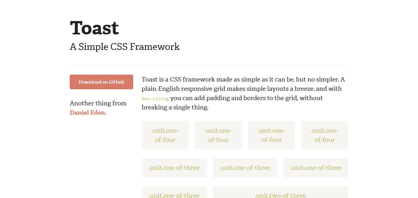 Toast I A Simple CSS Framework