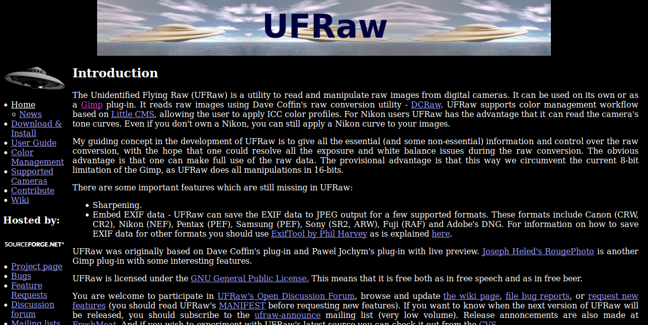 UFRaw Photo Editing Software