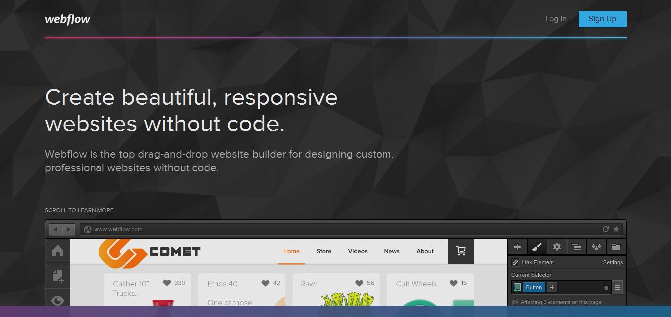 Webflow - Top Responsive Website Builder