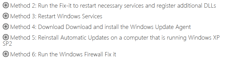 Windows 7 Update Problem Fixes
