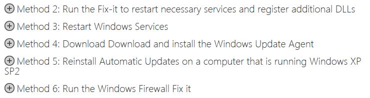 Windows 7 Update Problem Fixes