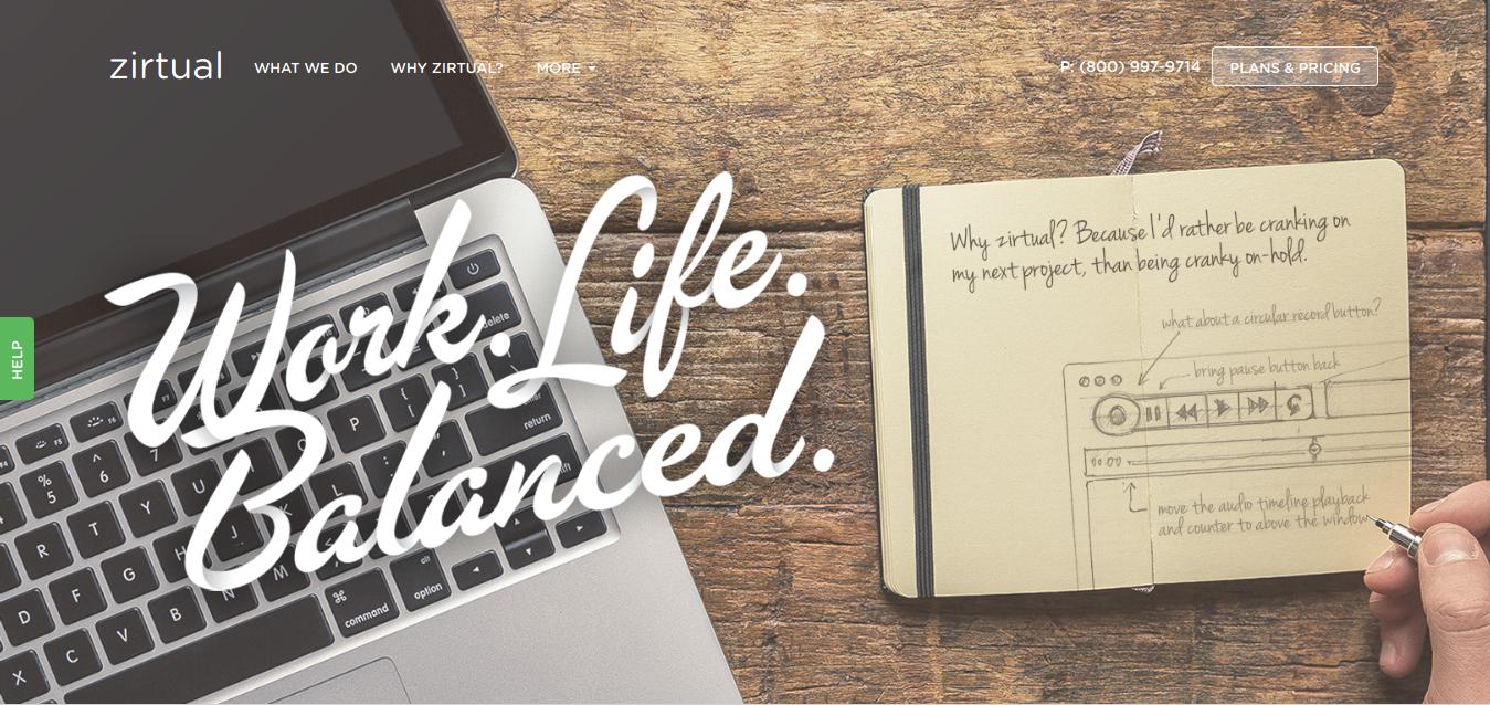 Work. Life. Balanced. Zirtual