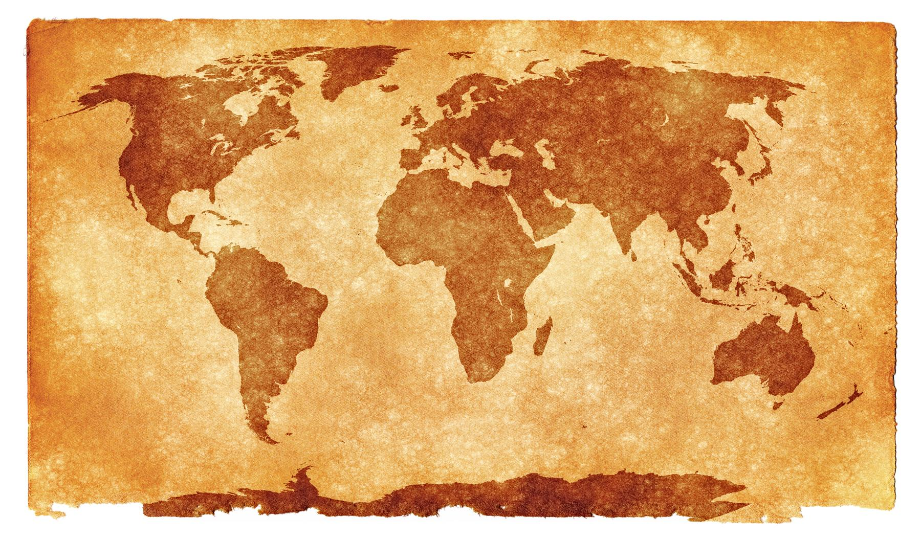 World Map Sepia