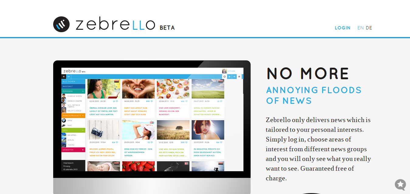 Zebrello - News Tailored to Your Personal Interests
