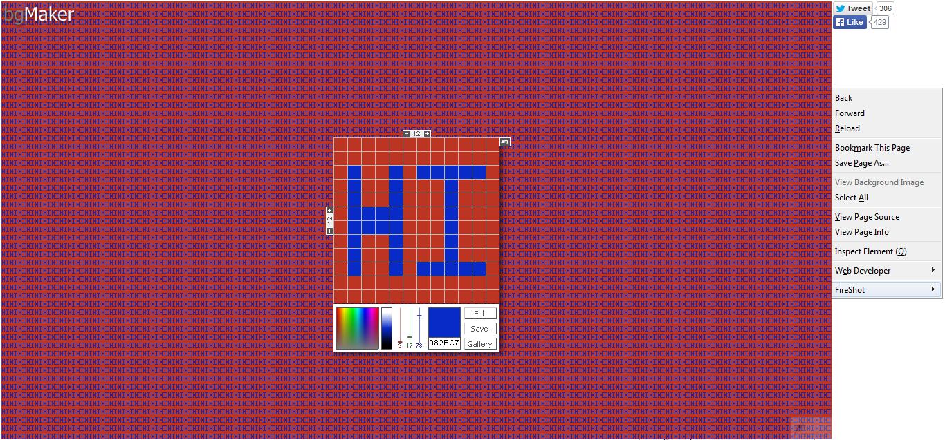 bgMaker III Background maker II Tiled Background generator I Web Background maker
