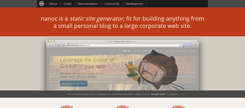 nanoc_ a static site generator written in Ruby » home