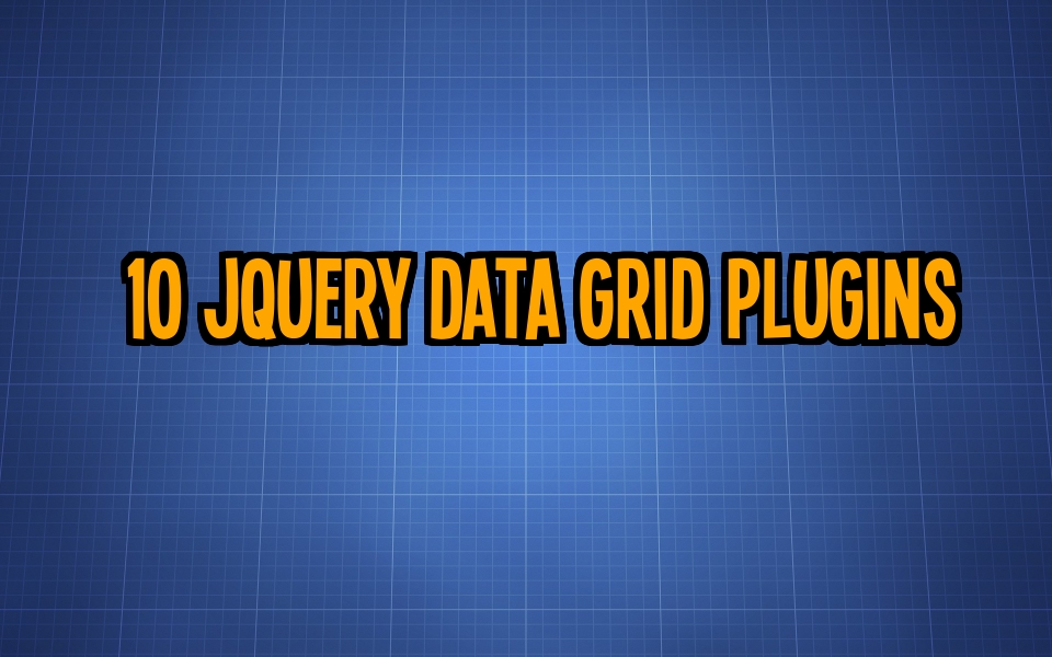 10 jQuery Data Grid Plugins for Creating Data Layouts