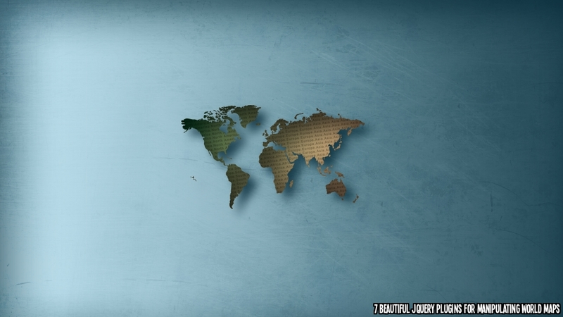 7 Beautiful jQuery Plugins to Manipulate World Maps