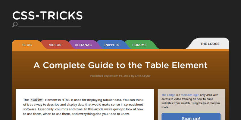 A Complete Guide to the Table Element CSS Tricks