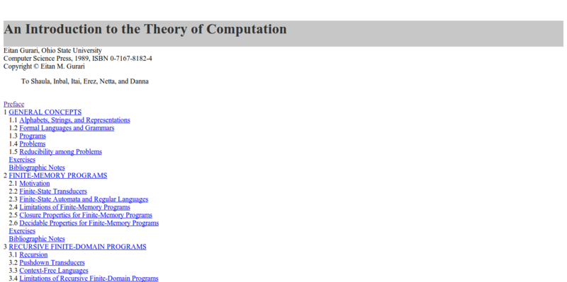 An Introduction to the Theory of Computation