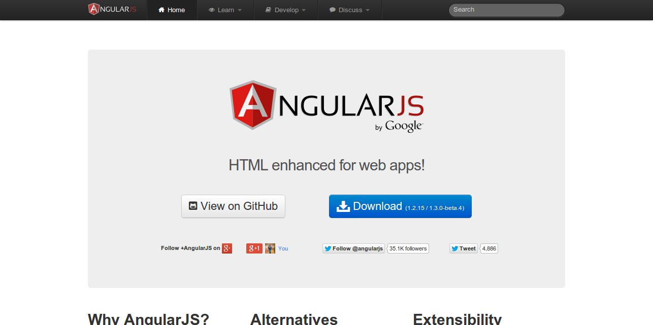 AngularJS — Superheroic JavaScript MVW Framework