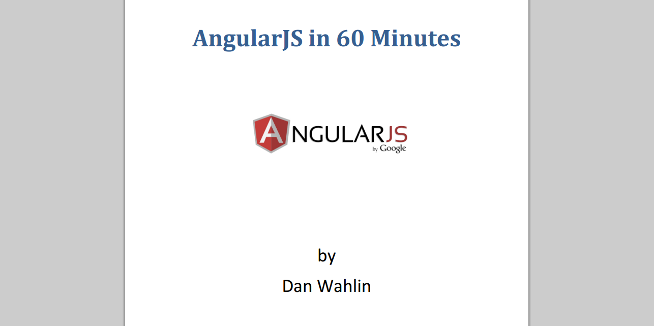AngularJS in 60 Minutes eBook