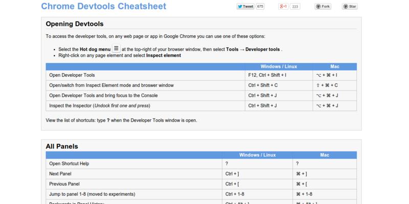 Anti-Code: Chrome Devtools Cheatsheet