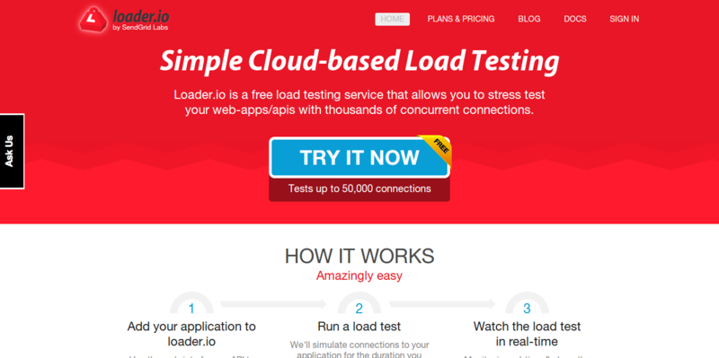 Application Load Testing Tools for API Endpoints with loader.io