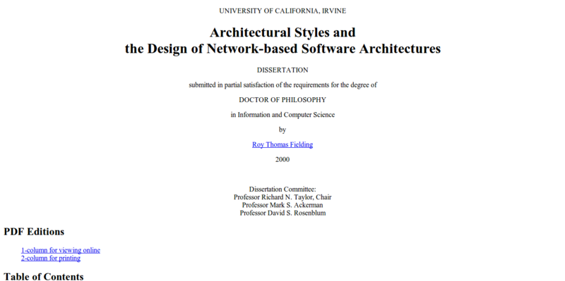 Architectural Styles and the Design of Network based Software Architectures