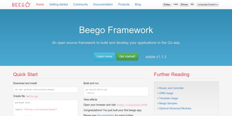 Beego Web Framework for Go