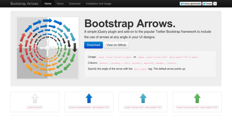 Bootstrap Arrows