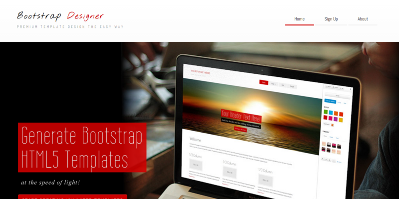 Bootstrap Designer Generate Bootstrap Templates at the speed of light