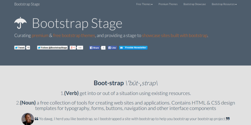Bootstrap themes  templates  and gallery