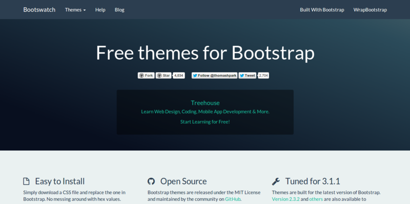 Bootswatch  Free themes for Bootstrap