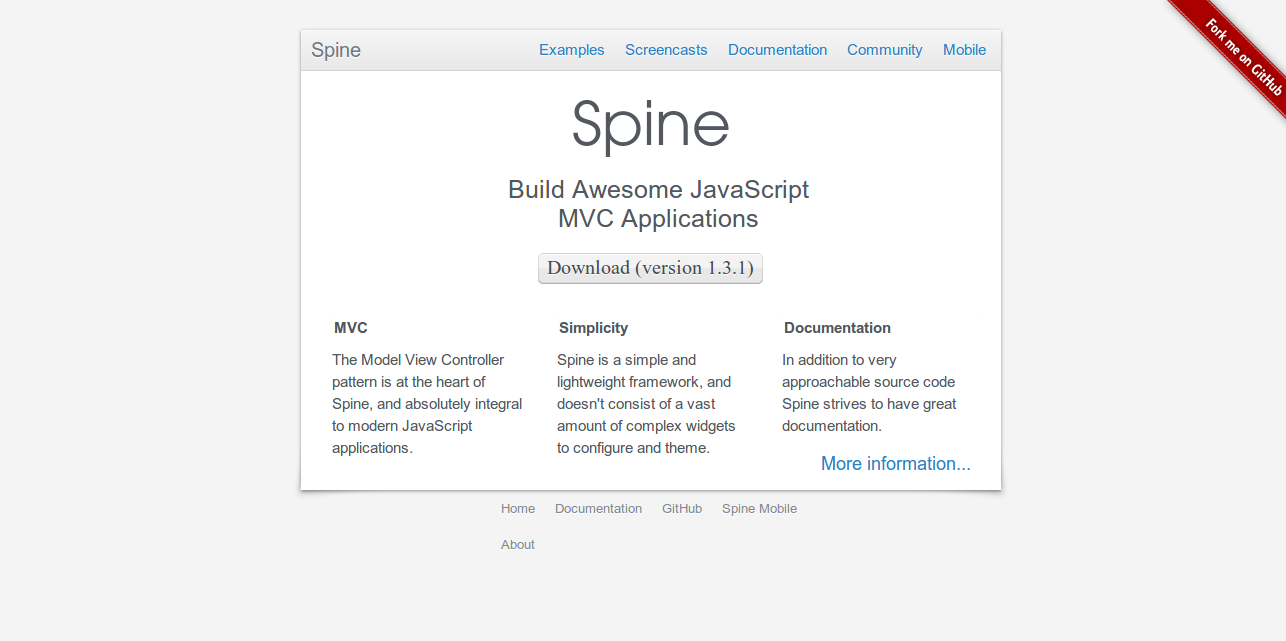 Build Awesome Javascript MVC Applications Spine - Web