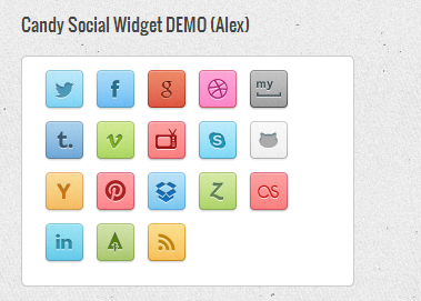 Candy Social Widget DEMO (Alex)