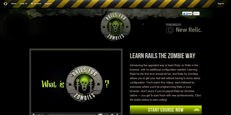 Code School Rails for Zombies