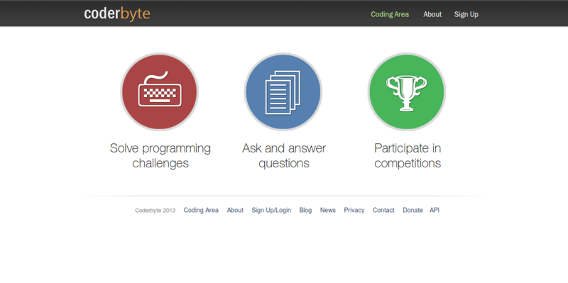 Coderbyte   Programming   Game Challenges   Competitions