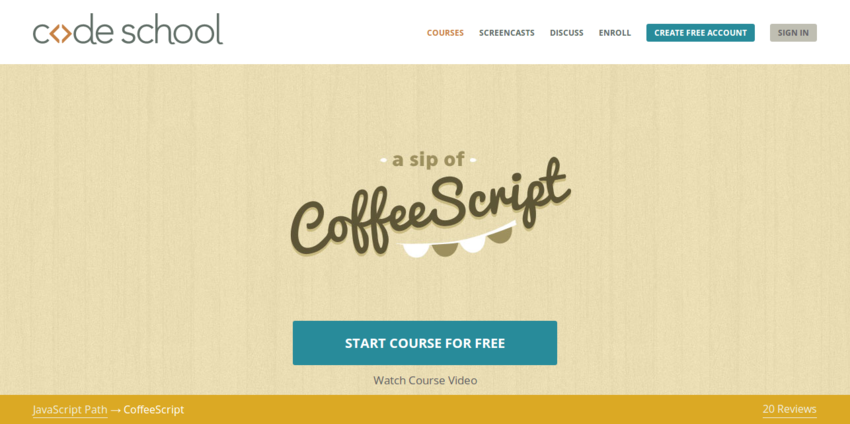 CoffeeScript   Code School