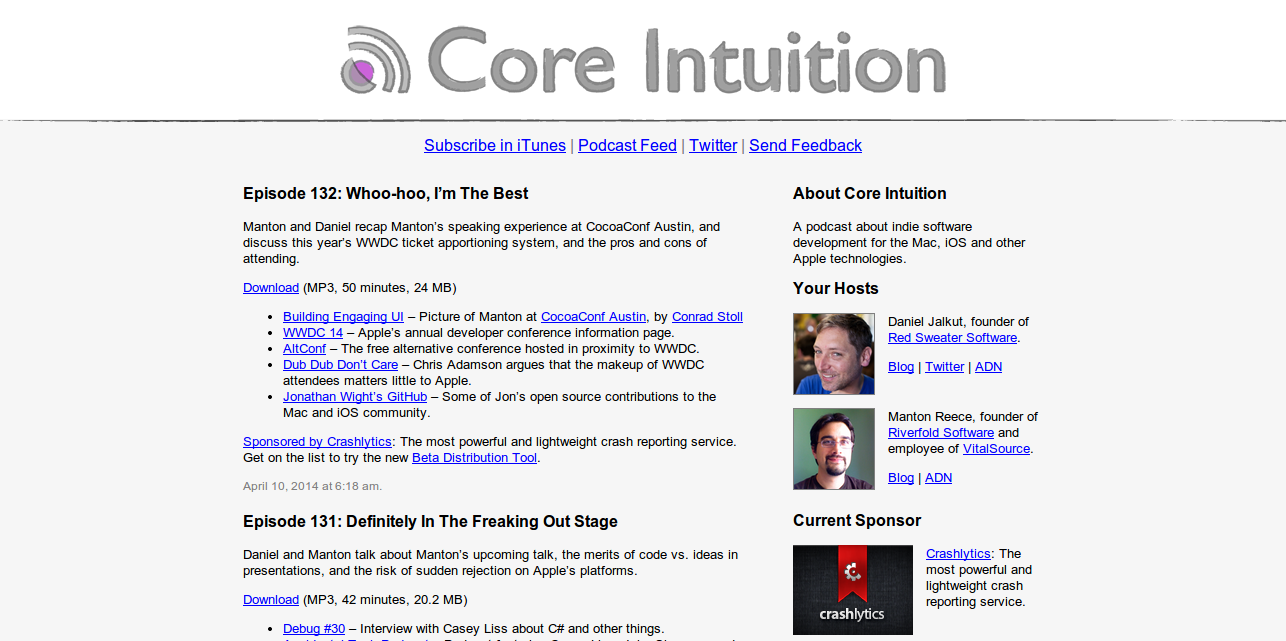 Core Intuition: Indie Software Development for Mac and iOS