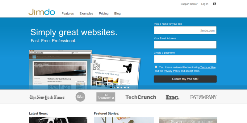 Create a Free Website with our Website Builder Jimdo