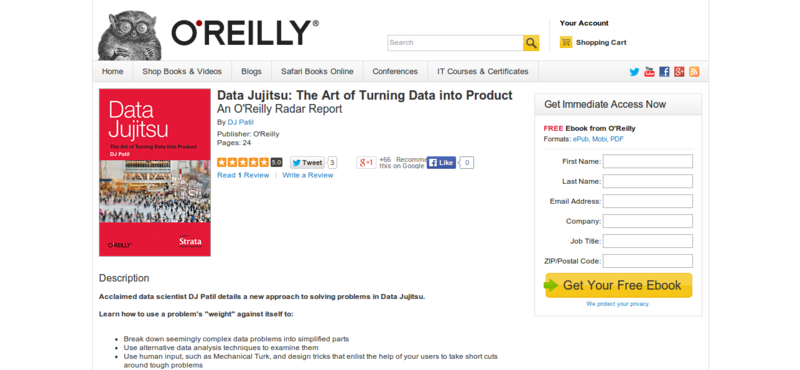 Data Jujitsu: The Art of Turning Data into Product