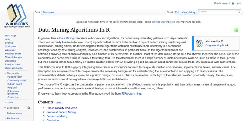 Data Mining Algorithms In R