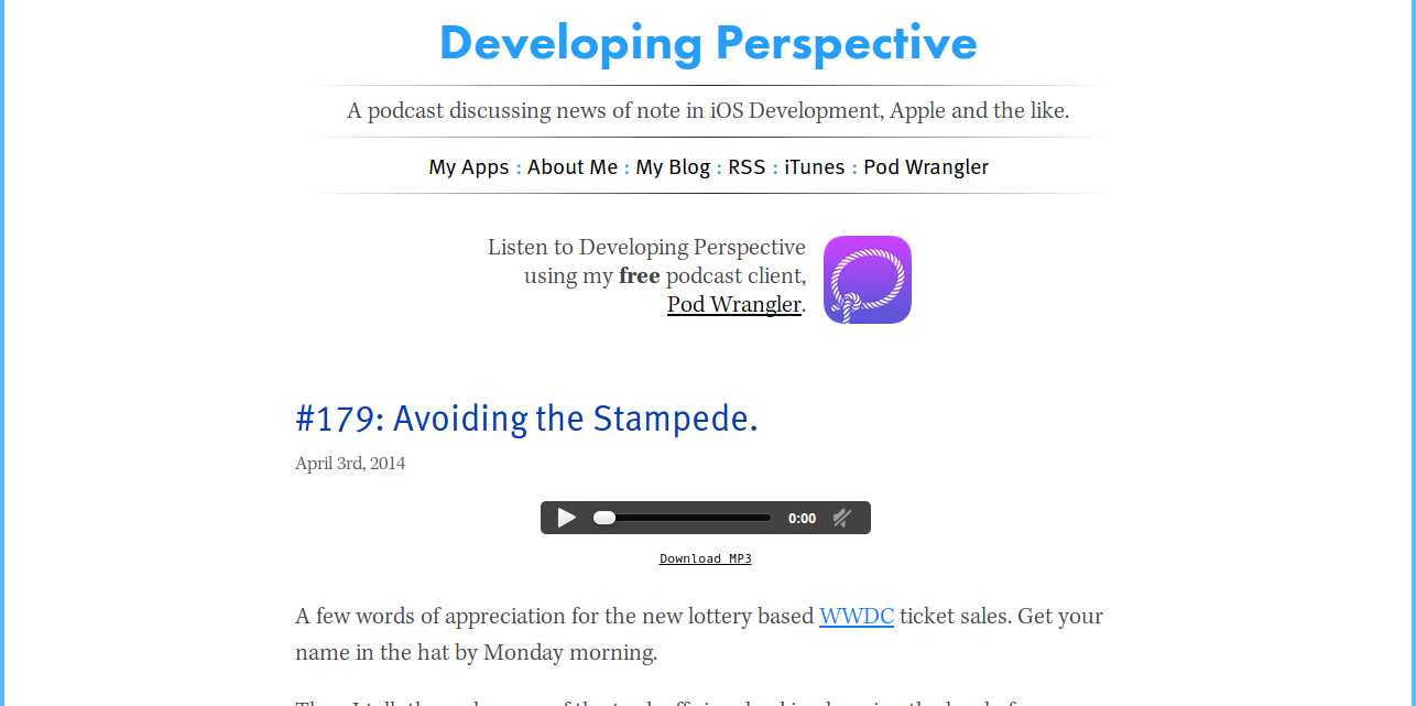 Developing Perspective: Podcast on iOS Development & Apple