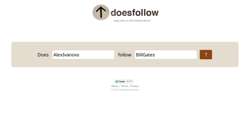 DoesFollow   Find Out Who Follows Whom on Twitter