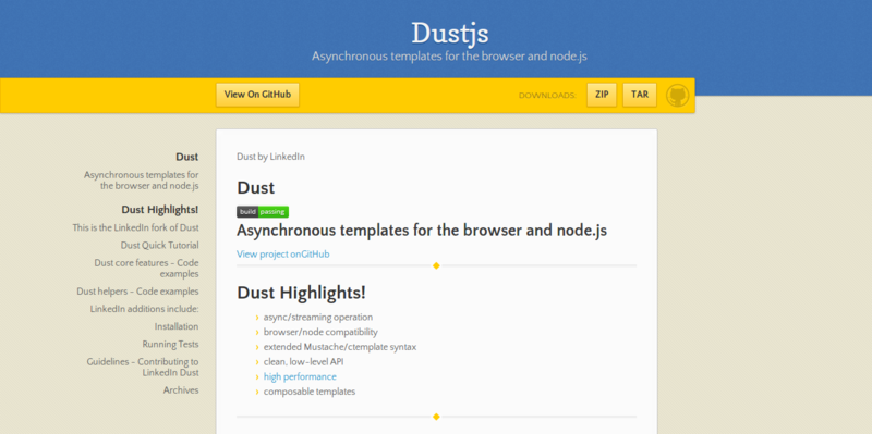 Dustjs by linkedin