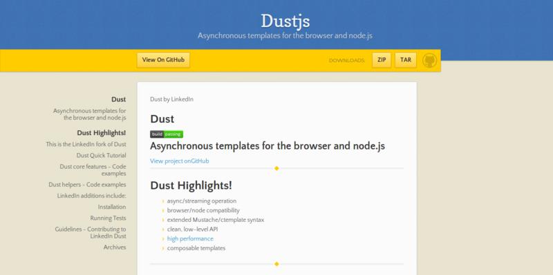 Dustjs by linkedin