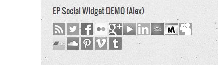 EP Social Widget DEMO (Alex)