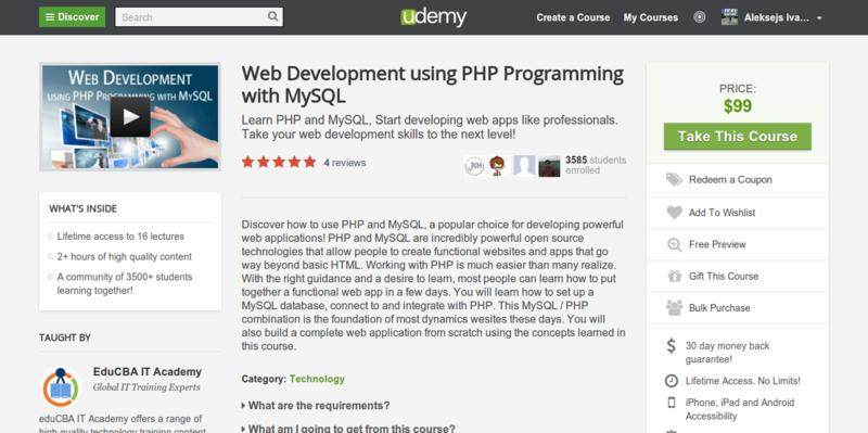 EduCBA IT: Learn PHP & MySQL
