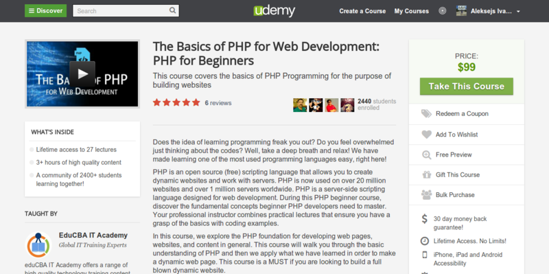 EduCBA IT: The Basics of PHP Programming