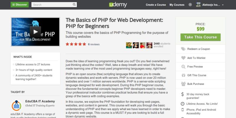 EduCBA IT: The Basics of PHP Programming